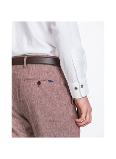 Gant Erkek Slim Fit Keten Pantolon Kırmızı